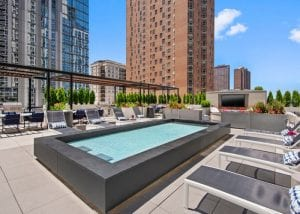 All Day Sun Swimming Pool at 1 E Delaware Pl